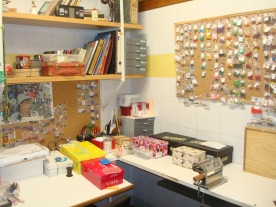 Una pequeña parte de la Craft Room de Diseños Sonia de la Torre